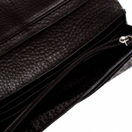 Aigner Brown Signature Coated Canvas Continental Wallet 249043