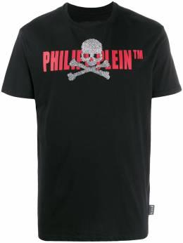 Philipp Plein футболка с короткими рукавами и логотипом S20CMTK4249PJY002N