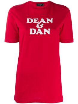Dsquared2 футболка с принтом S75GD0096S22427