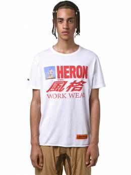 Футболка Из Хлопкового Джерси Heron Preston 71IWHP007-MDE4OA2