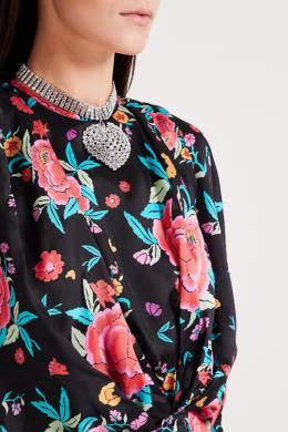 Платье мини с крупным цветочным принтом Attico 1869168758