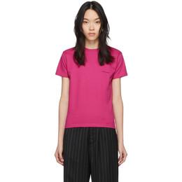 Balenciaga Pink Copyright Logo Fitted T-Shirt 570796-TBV43