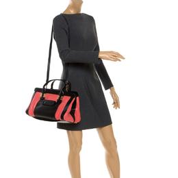Chloe Black/Tomato Red Leather Alice Bag 248982