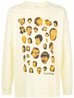 Supreme футболка Faces с длинными рукавами SU7689