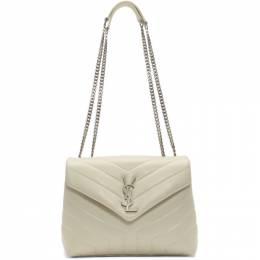 Saint Laurent White Small Loulou Bag 494699 DV726