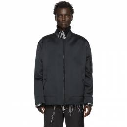 Valentino Black Crepe Moon Dust Bomber Jacket TV3CIF185W4