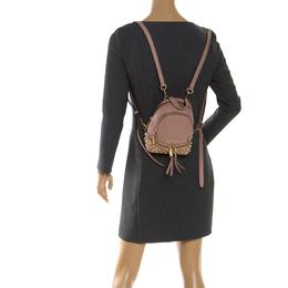 Michael Kors Beige Leather Mini Studded Rhea Backpack 247696