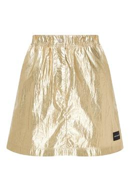 Мини-юбка золотистого цвета Calvin Klein 596169237