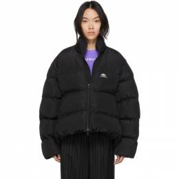 Balenciaga Black BB C-Shape Puffer Coat 601763-TYD36