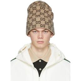 Gucci Beige Wool GG Beanie 597640 4G206