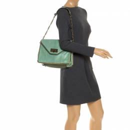 Chloe Bicolor Python and Leather Medium Sally Shoulder Bag 249651