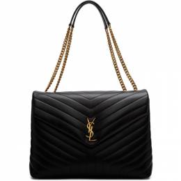 Saint Laurent Black Large Loulou Bag 574947 DV727