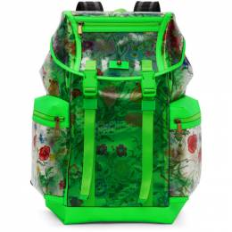 Gucci Green Clear Flowers Backpack 548711 91FBX