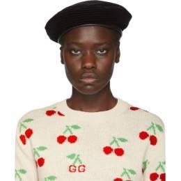 Gucci Black Emile Beret 588763 4HH56