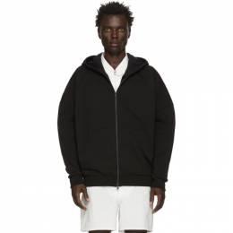 Random Identities Black Embroidered Zip-Up Hoodie JS-39