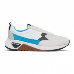 Diesel White and Blue S-KB Low Sneakers Y01998 P2485