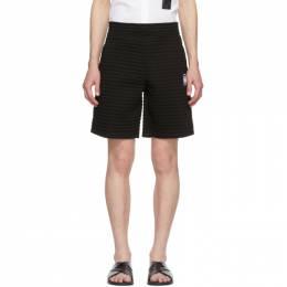 Neil Barrett Black Chanelled Shorts PBJP 191B N508