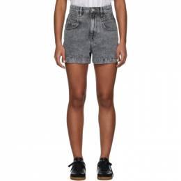 Isabel Marant Etoile Grey Denim Hiana Shorts 20PSH0287-20P017E