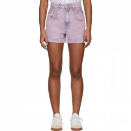 Isabel Marant Etoile Pink Denim Hiana Shorts 20PSH0287-20P017E