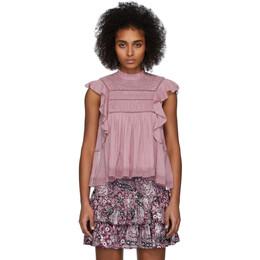 Isabel Marant Etoile Pink Vivia Blouse HT1103-20P063E