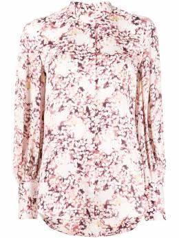 Equipment блузка с цветочным принтом и узкими манжетами 191004729TP02205