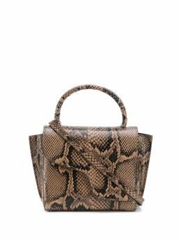 Atp Atelier маленькая сумка-тоут Montalcino с тиснением под кожу змеи 110727