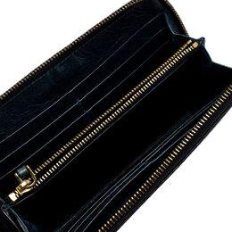 Miu Miu Black Leather Zip Around Wallet 250214