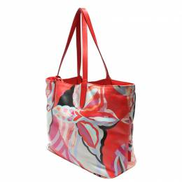 Emilio Pucci Multicolor Floral Tote Bag