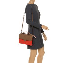 Fendi Tricolor Textured Leather Small Demi Jour Top Handle Bag 251501