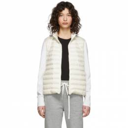Moncler Off-White Down Knit Zip-Up Jacket F10939B50400A9001