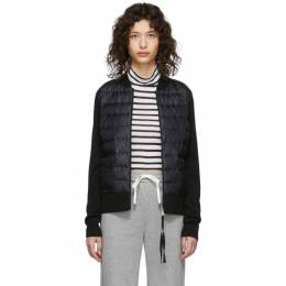 Moncler Black Down Knit Combo Jacket F10939B50000A9001