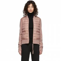 Moncler Pink Down Knit Combo Jacket F10939B50000A9001