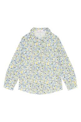 Голубая рубашка с узором Il Gufo 1205170321