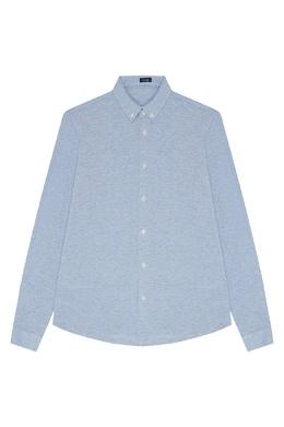 Голубая хлопковая рубашка Il Gufo 1205170366
