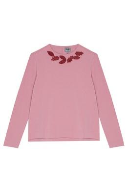 Розовая толстовка с декором Il Gufo 1205170380