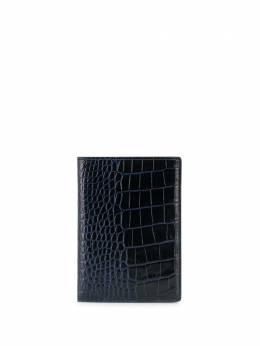 Smythson обложка для паспорта с тиснением под кожу крокодила 1017058