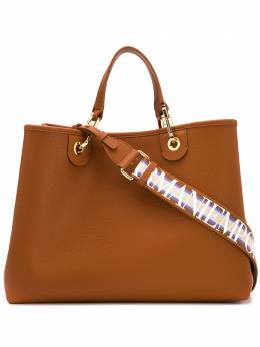 Emporio Armani сумка-тоут с тиснением под кожу крокодила Y3D165YFO5B
