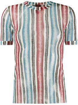 Jean Paul Gaultier Pre-Owned полупрозрачная футболка 1990-х годов в полоску JPG2162