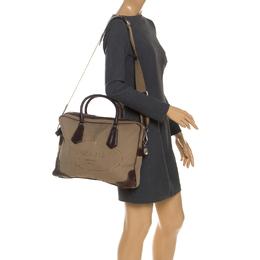 Prada Brown Jacquard Logo Canvas Corda Moro Shoulder Bag 251530