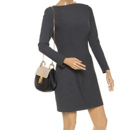 Chloe Black/Cream Leather Medium Drew Shoulder Bag 250920