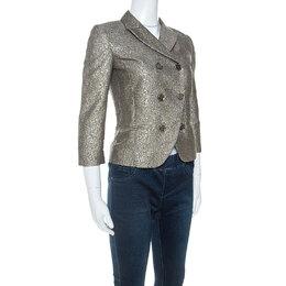 Diane Von Furstenberg Metallic Wool Little M Tweed Blazer XS 251727