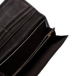 Bally Brown Canvas Damata Long Flap Wallet 252277