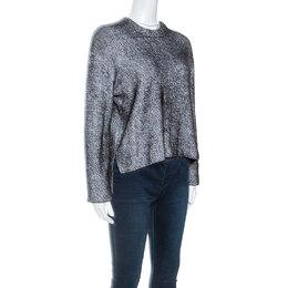 T By Alexander Wang Monochrome Striped Knit Sweater S