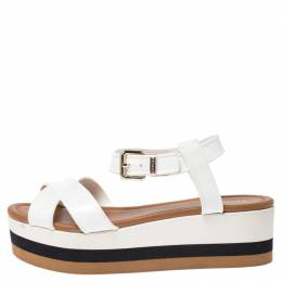 Fendi White PVC Hydra Platform Sandals Size 39 250410