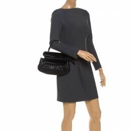 Fendi Black Leather To You Convertible Clutch 251580
