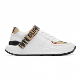 Burberry Beige Check Ronnie Sneakers 8025543