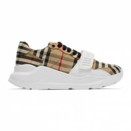 Burberry Beige Check Regis Sneakers 8020281