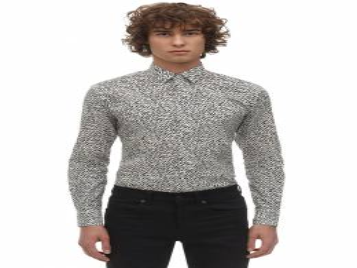 Рубашка Из Хлопка С Принтом Saint Laurent 71I25Z051-OTc4Nw2