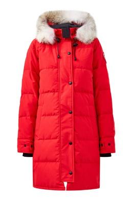 Красный пуховик с контрастными кнопками Canada Goose 2521170245