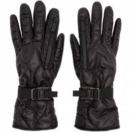 Takahiromiyashita The Soloist Black Taffeta Zip Gloves SA.0005dAW19